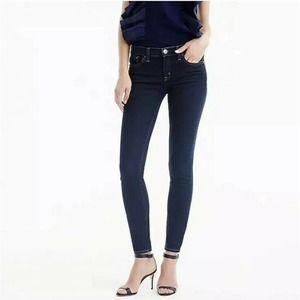 J Crew Toothpick Dark Wash Mid Rise Skinny Jeans